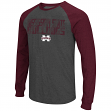 "Mississippi State Bulldogs NCAA ""Olympus"" Long Sleeve Raglan Shirt - Charcoal"