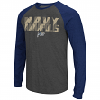 "Navy Midshipmen NCAA ""Olympus"" Long Sleeve Raglan Shirt - Charcoal"