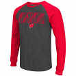 "Wisconsin Badgers NCAA ""Olympus"" Long Sleeve Raglan Shirt - Charcoal"
