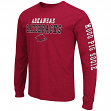 "Arkansas Razorbacks NCAA ""Game Changer"" Long Sleeve Dual Blend Men's T-Shirt"