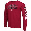 "Harvard Crimson NCAA ""Game Changer"" Long Sleeve Dual Blend Men's T-Shirt"