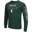 "Michigan State Spartans NCAA ""Game Changer"" Long Sleeve Dual Blend Men's T-Shirt"