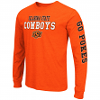 "Oklahoma State Cowboys NCAA ""Game Changer"" Long Sleeve Dual Blend Men's T-Shirt"