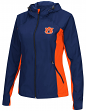"Auburn Tigers NCAA Women's ""Step Out"" Full Zip Windbreaker Jacket"