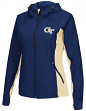 "Georgia Tech Yellowjackets NCAA Women's ""Step Out"" Full Zip Windbreaker Jacket"