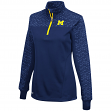 "Michigan Wolverines Women's NCAA ""Burst"" 1/4 Zip Pullover Sweatshirt"