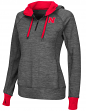 "Nebraska Cornhuskers Women's NCAA ""Double Back"" 1/2 Zip Fitted Sweatshirt"