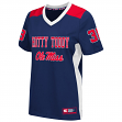 "Mississippi Ole Miss Rebels Women's NCAA ""Endo"" Fashion Football Jersey"