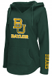 "Baylor Bears Women's NCAA ""Walkover"" V-neck Pullover Hooded Sweatshirt"