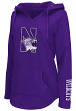"Northwestern Wildcats Women's NCAA ""Walkover"" V-neck Pullover Hooded Sweatshirt"