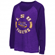 "LSU Tigers Women's NCAA ""Balance"" L/S Banded Bottom Top Shirt"