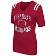 "Arkansas Razorbacks Women's NCAA ""Artistic"" Dual Blend Short Sleeve T-Shirt"