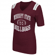 Mississippi State Bulldogs Women's NCAA Artistic Dual Blend Short Sleeve T-Shirt