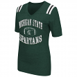 "Michigan State Spartans Women's NCAA ""Artistic"" Dual Blend Short Sleeve T-Shirt"