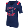 "Mississippi Ole Miss Rebels Women's ""Artistic"" Dual Blend Short Sleeve T-Shirt"