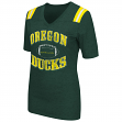 "Oregon Ducks Women's NCAA ""Artistic"" Dual Blend Short Sleeve T-Shirt"