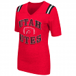 "Utah Utes Women's NCAA ""Artistic"" Dual Blend Short Sleeve T-Shirt"