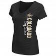 "Colorado Buffaloes Women's NCAA ""Compulsory"" Dual Blend Short Sleeve T-Shirt"