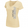 "Georgia Tech Yellowjackets Women's ""Compulsory"" Dual Blend Short Sleeve T-Shirt"