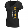 "Iowa Hawkeyes Women's NCAA ""Compulsory"" Dual Blend Short Sleeve T-Shirt"