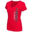 "Louisville Cardinals Women's NCAA ""Compulsory"" Dual Blend Short Sleeve T-Shirt"