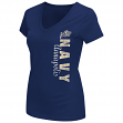 "Navy Midshipmen Women's NCAA ""Compulsory"" Dual Blend Short Sleeve T-Shirt"