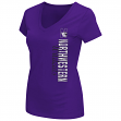 "Northwestern Wildcats Women's NCAA ""Compulsory"" Dual Blend Short Sleeve T-Shirt"