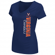 "Virginia Cavaliers Women's NCAA ""Compulsory"" Dual Blend Short Sleeve T-Shirt"