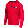 "Georgia Bulldogs Youth NCAA ""Sleet"" 1/4 Zip Pullover Hooded Windshirt"