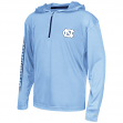 "North Carolina Tarheels Youth NCAA ""Sleet"" 1/4 Zip Pullover Hooded Windshirt"