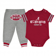 "Alabama Crimson Tide NCAA Infant ""MVP"" Onesie & Pant Outfit Set"