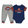 "Auburn Tigers NCAA Infant ""MVP"" Onesie & Pant Outfit Set"