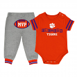 "Clemson Tigers NCAA Infant ""MVP"" Onesie & Pant Outfit Set"