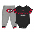 """Texas Tech Red Raiders NCAA Infant """"MVP"""" Onesie & Pant Outfit Set"""