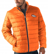 "Denver Broncos Men's NFL ""Skybox"" Full Zip Packable Quilted Jacket with Bag"