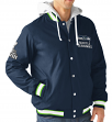 "Seattle Seahawks NFL ""Glory"" Super Bowl Commemorative Varsity Hooded Jacket"