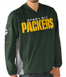 """Green Bay Packers NFL G-III """"Gridiron"""" Men's Pullover Embroidered Jacket"""