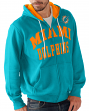 "Miami Dolphins NFL G-III ""Pass Attempt"" Full Zip Hooded Men's Sweatshirt"