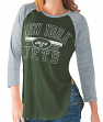 "New York Jets Women's G-III NFL ""Hang Time"" Dual blend 3/4 Sleeve T-shirt"