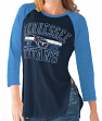 "Tennessee Titans Women's G-III NFL ""Hang Time"" Dual blend 3/4 Sleeve T-shirt"