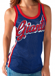 "New York Giants Women's G-III NFL ""Game On"" Jersey Mesh Tank Top"