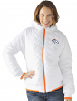 "Denver Broncos Women's NFL G-III ""Drop Back"" Full Zip Hooded Quilted Jacket"