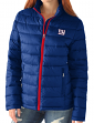 "New York Giants Women's NFL ""Catch"" Full Zip Packable Quilted Jacket with Bag"