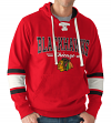 "Chicago Blackhawks G-III NHL ""Icing"" Men's Lace Up Pullover Hooded Sweatshirt"
