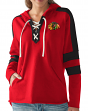 "Chicago Blackhawks Women's NHL G-III ""Blueline"" Lace Up Hooded Sweatshirt"