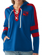 "New York Rangers Women's NHL G-III ""Blueline"" Lace Up Pullover Hooded Sweatshirt"