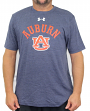 "Auburn Tigers Under Armour NCAA ""Halfback"" Men's Tri-Blend Short Sleeve Shirt"