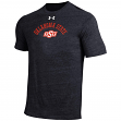 "Oklahoma State Cowboys Under Armour NCAA ""Halfback"" Men's Tri-Blend S/S Shirt"