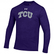 "TCU Horned Frogs Under Armour NCAA ""Tailback"" Men's Tri-Blend Long Sleeve Shirt"