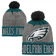 "Philadelphia Eagles Youth NFL ""Ultimate"" Cuffed Knit Hat w/ Pom"